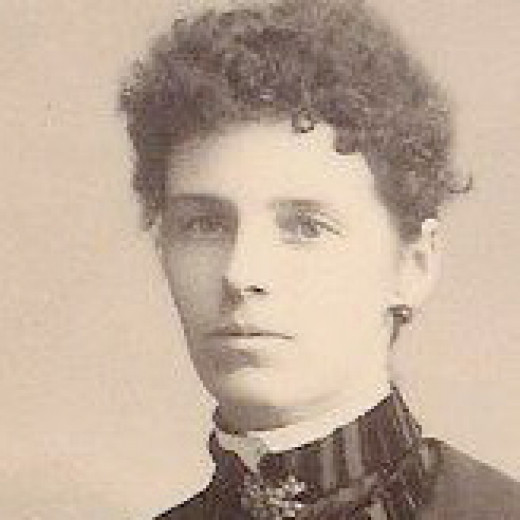 Letitia (Tish) on her wedding day in 1889.