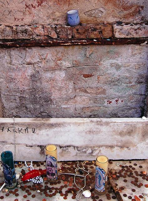 The Voodoo Queen's Tomb in New Orleans...an olde hoodoo practitioner lies here.