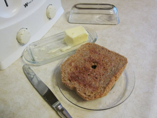 This gluten-free bread is absolutely delicious, toasted... Photo by: timorous