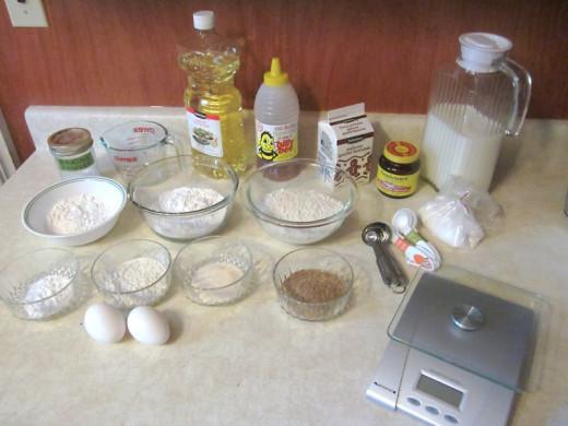 Gluten-free bread ingredients. Photo by: timorous
