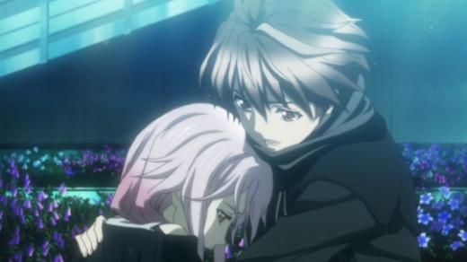 Shu and Inori sharing a moment of sadness together
