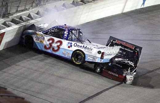 Wrecking Ron Hornaday under caution cost Ron a shot at the Truck series title