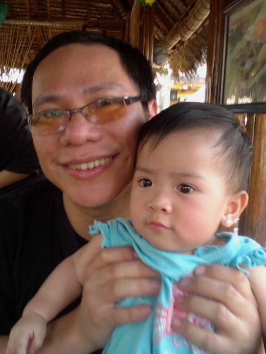 My daughter Yna at 9 months 17 days