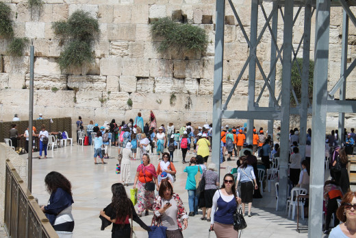 The female side of the Western (Wailing) Wall, Jerusalem