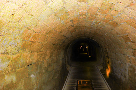 The Templars' Tunnel (Crusader Tunnel) is one of Akko's eeriest attractions.