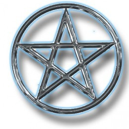 Make this your pentacle if you don't have one: print it out and paste it to a round piece of wood or a paper plate for a temporary pentacle.