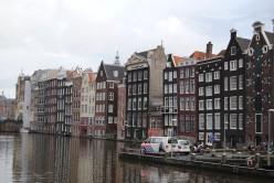 Damrak side of Warmoesstraat, Amsterdam inner city.
