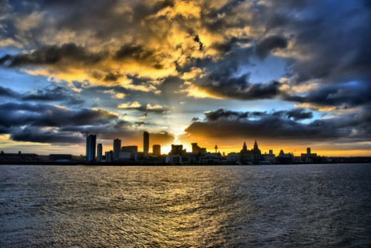 Liverpool from the Mersey