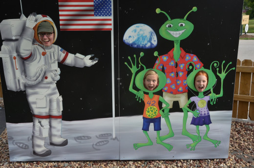 A stop at the Space Center on the mini-golf course