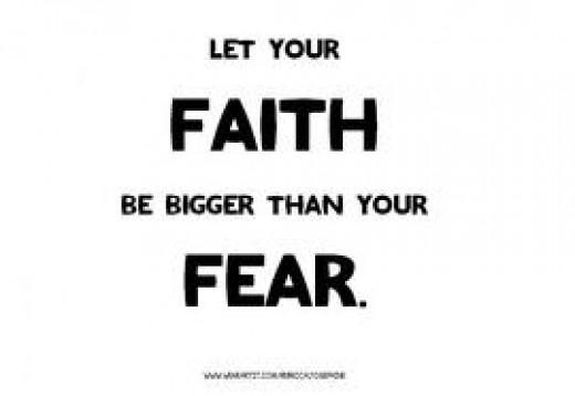 Faith overcomes the world.