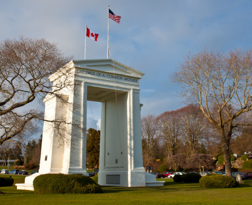 Peace Arch - Canada / US border