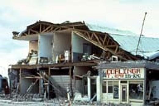 Coalinga, Ca USA earthquake. 1983.