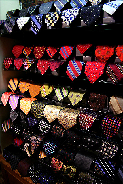Ties are a great way to find your color selections. They make the perfect swatches.