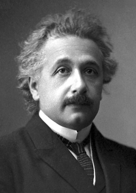 Well known scientist, Albert Einstein.