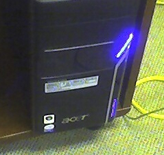 Example of front of a computer's tower.