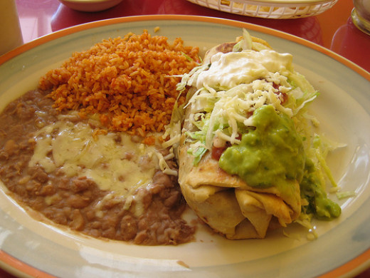 This dish can be served also as a chimichanga (see recipe below).