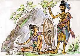 Prince Vijaya meets Kuveni