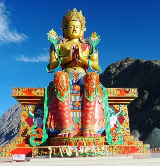 Maitreya Buddha statue