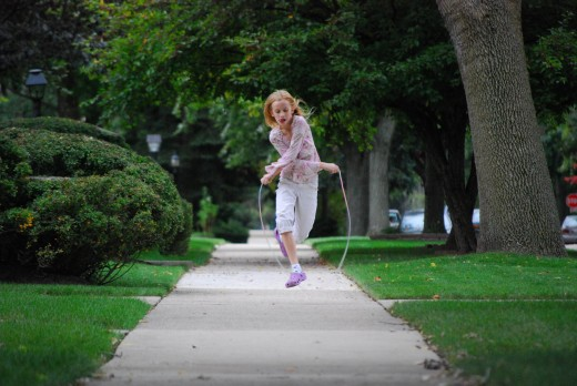 You could jump rope on a rainy day... but it'd probably get messy.