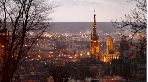 Rouen Cathedral at sunset