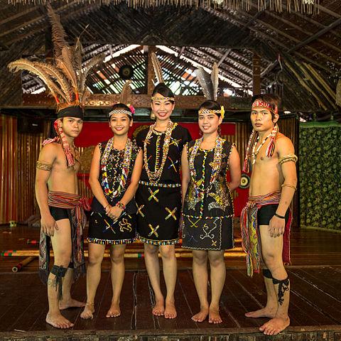 Kadazandusun people of Sabah in traditional clothing