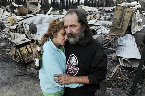 People are grieving,homes lost,their loved ones dead