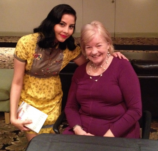 Me with author Lois Banner