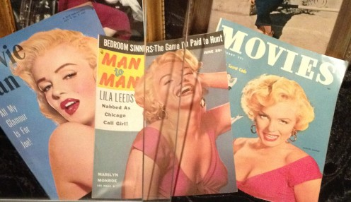 Magazine covers featuring Marilyn Monroe