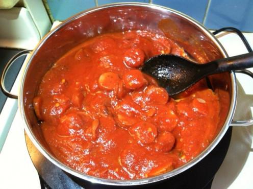 Add spaghetti or marinara sauce.