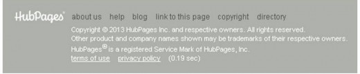 HubPages rules