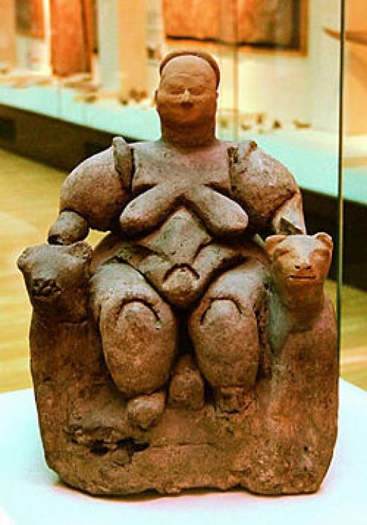 Image of the pervasive Goddess figurine in Catal Huyuk