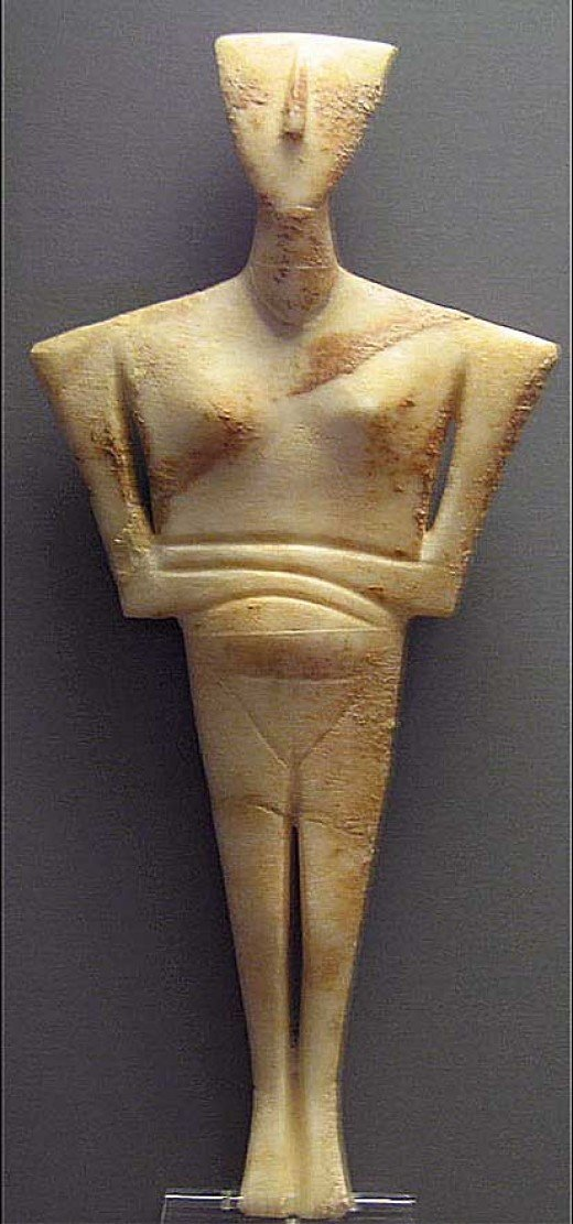 Cycladic Statuette of a woman
