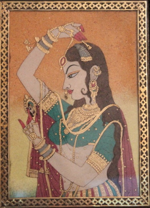 Indian queen laden with jewelry