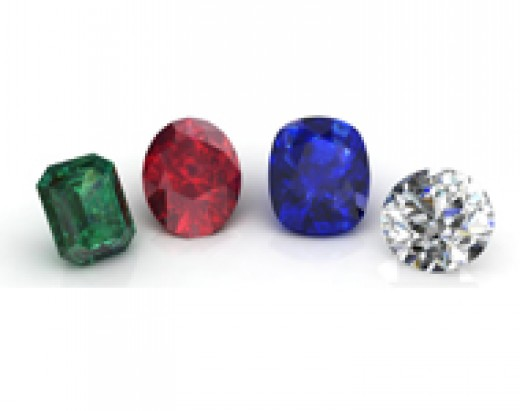 Gemstone trading is largely limited to diamond, sapphire, ruby and emerald.