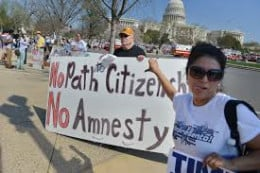 Opponents March Against Immigration Reform