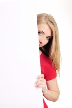 Elegance of a shy girl
