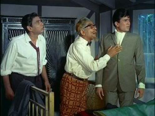 I.S. Johar, Harindranath Chattopadhyay & Super Star Rajesh Khanna