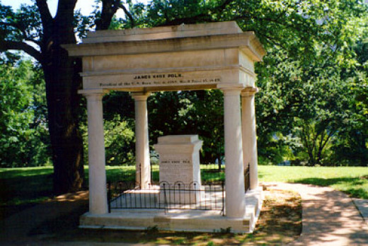 Burial site of James and Sarah Polk, Tennessee State Capital, Nashville.