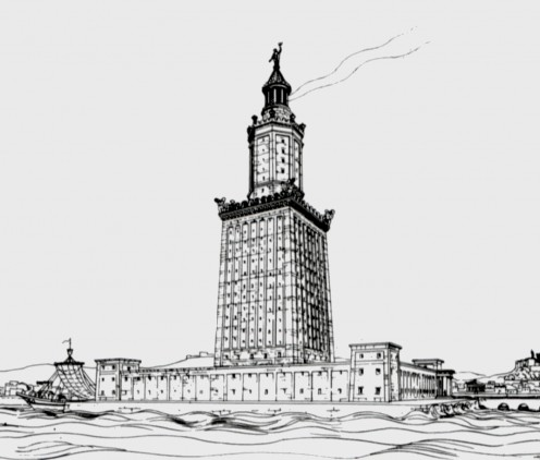 A drawing of the lighthouse