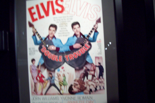 This is a picture of a poster at Graceland.