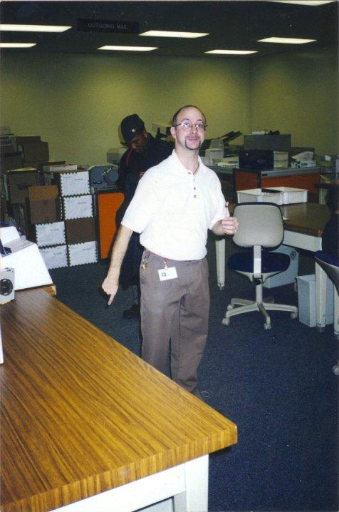 Brett working for the Post Office