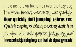 more creative pangrams. . .