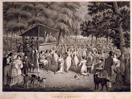 An image of a revival, ala the 1800s.