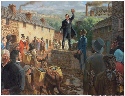 Joseph Smith (the prophet of the Mormon religion) preaching