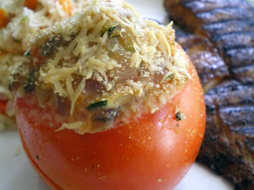 Spinach And Ricotta Stuffed Tomatoes