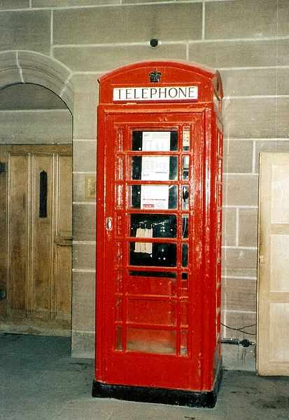 Another Giles Gilbert Scott design - the K2 phone box found inside the Cathedral