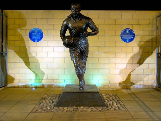 Monument to Dixie Dean, the club's greatest goal-scorer