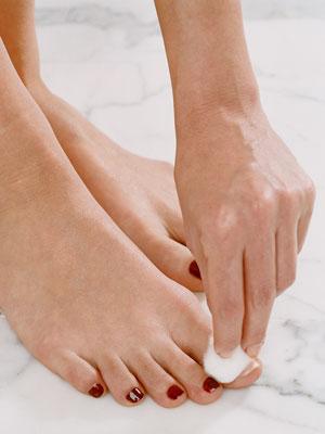 Remove your existing toenail polish.