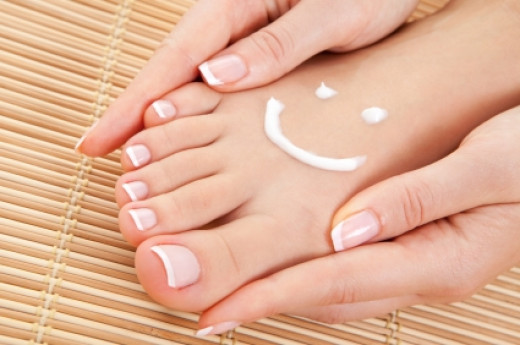 Self-pedicure equals happy feet.