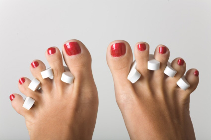Toe separators look silly, but they are helpful.
